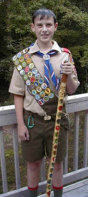 Eagle Scout Bryan Hill, New Hampshire